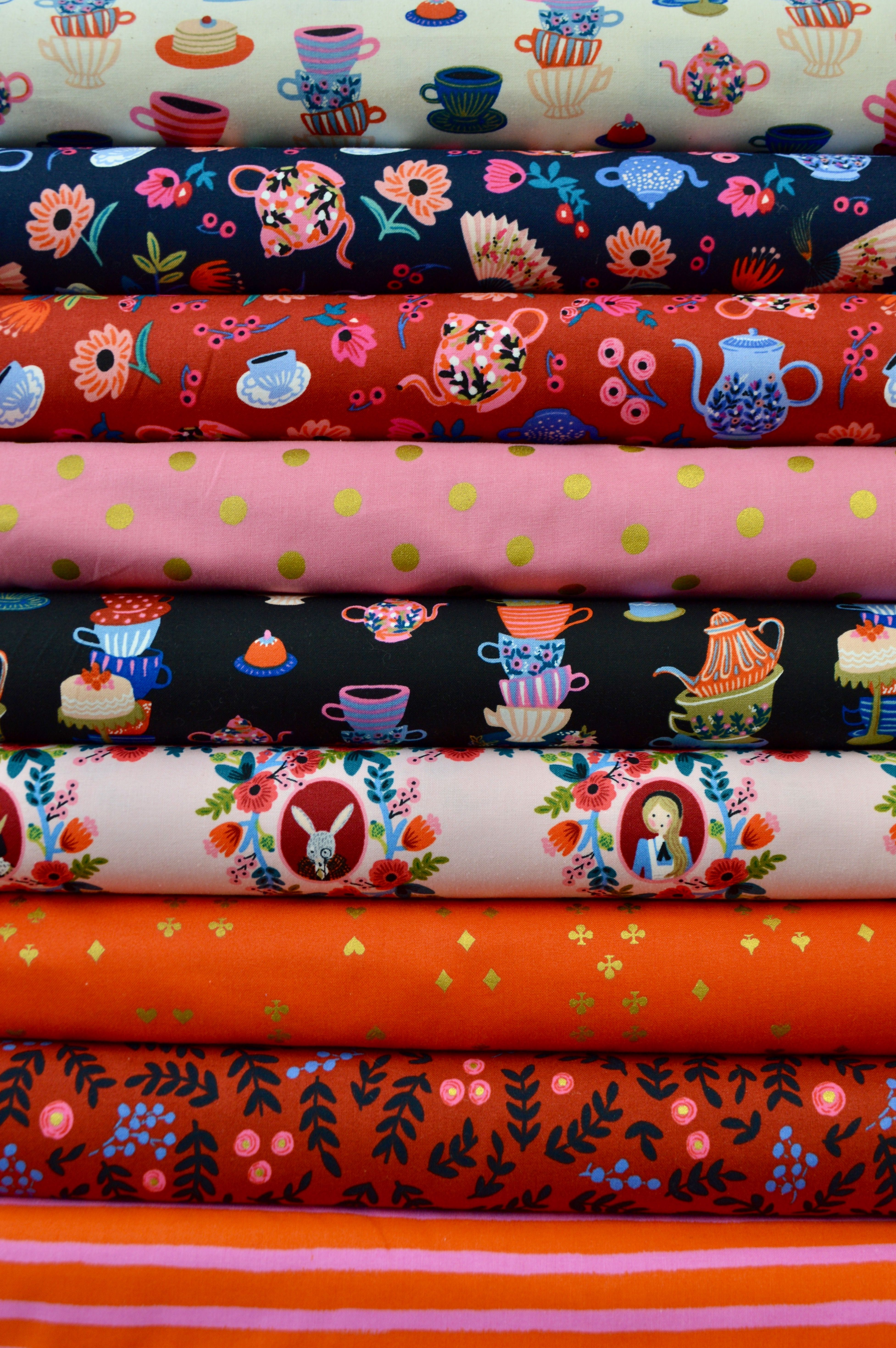 We have all of the Rifle Paper Co. Wonderland Fabric from Cotton+Steel!