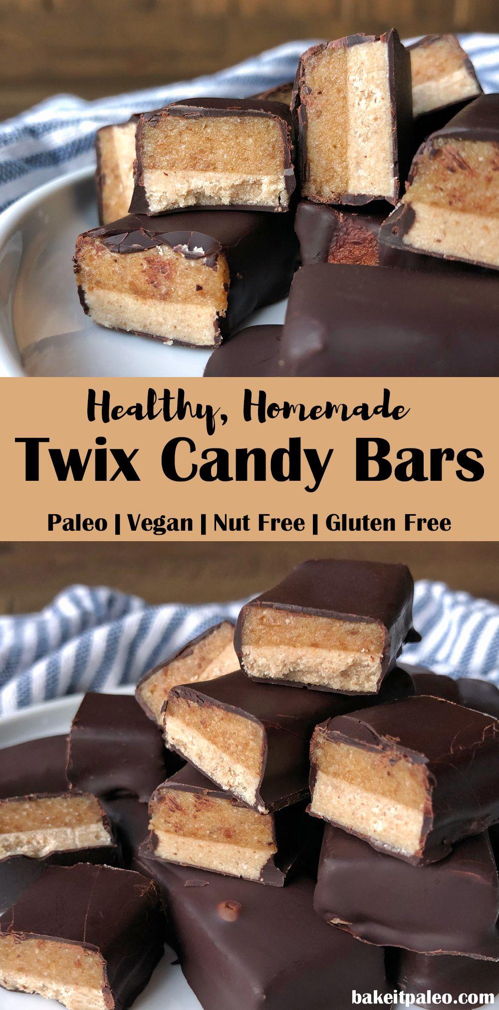 Healthy Homemade Twix Bars Paleo Vegan Nut Free Recipe