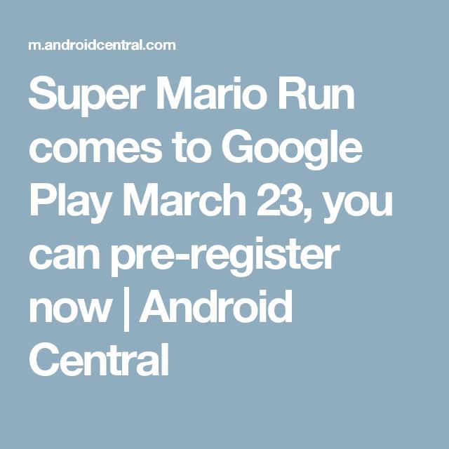 super mario run comes