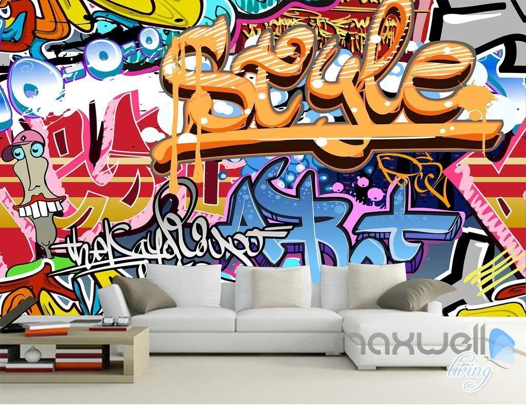 3d graffiti style wall art mural paper print decals decor 3d graffiti style wall art mural paper print decals decor wallpaper idcwp ty 000060