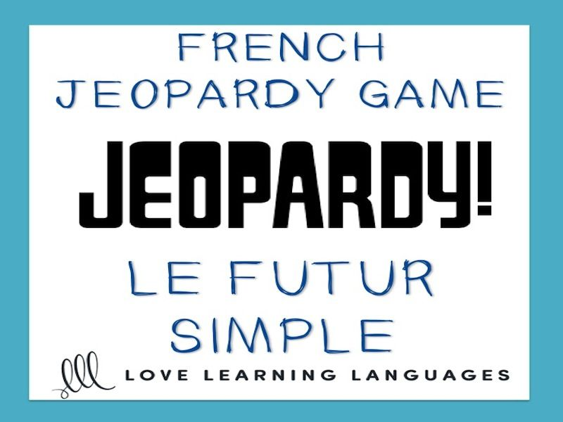 gcse french: french jeopardy game: le futur simple - french simple, Powerpoint templates