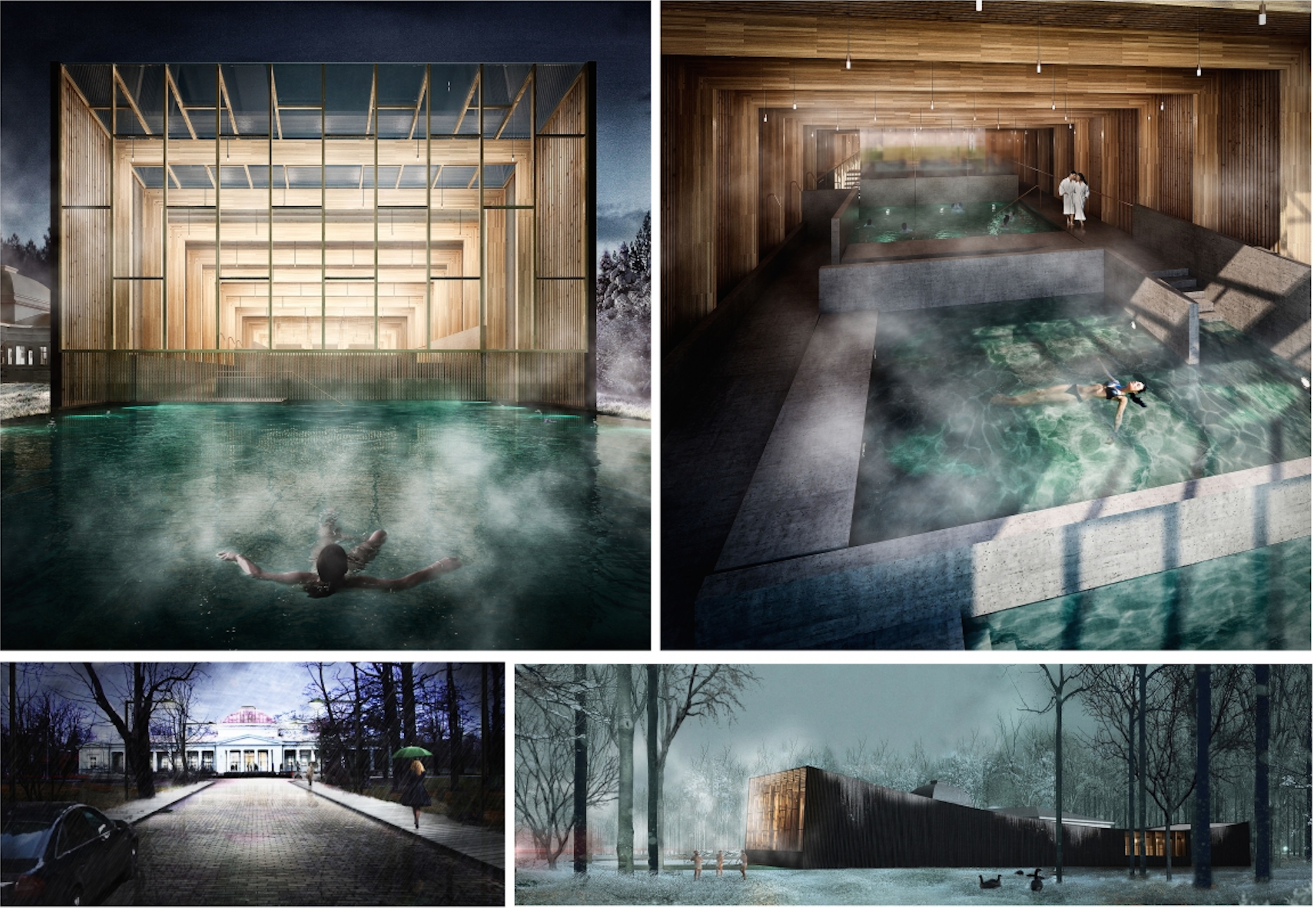 "Architecture House Competition architecture competition ""rebirth of the bath house"" 1st prize"