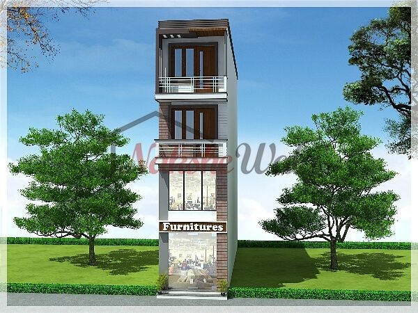 Front Elevation Of Multi Storied Building : Multi storey residential buildings d front elevation
