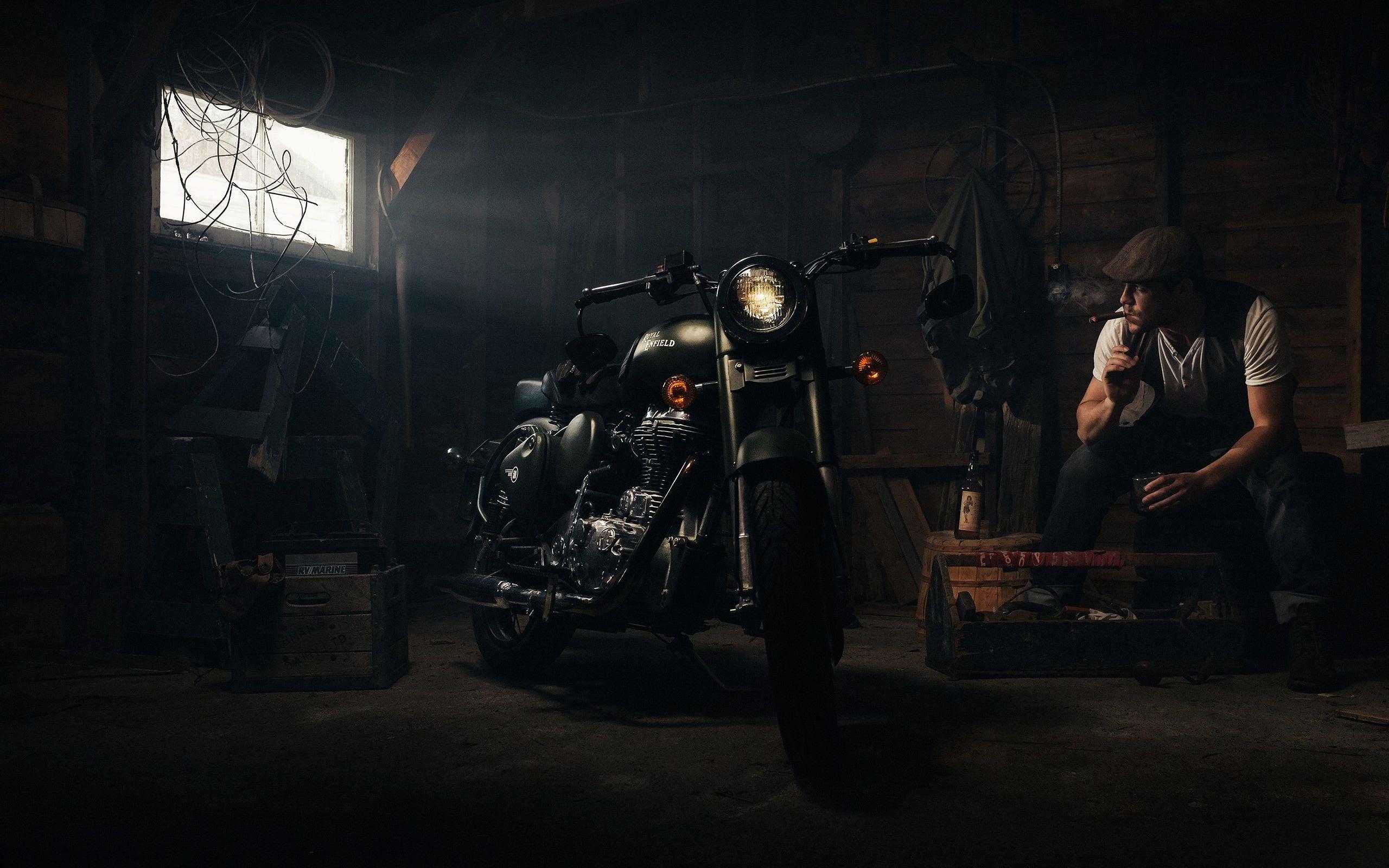 Hdwallpaper Motorcycle Wallpaper Enfield Desktop Cigar Royal