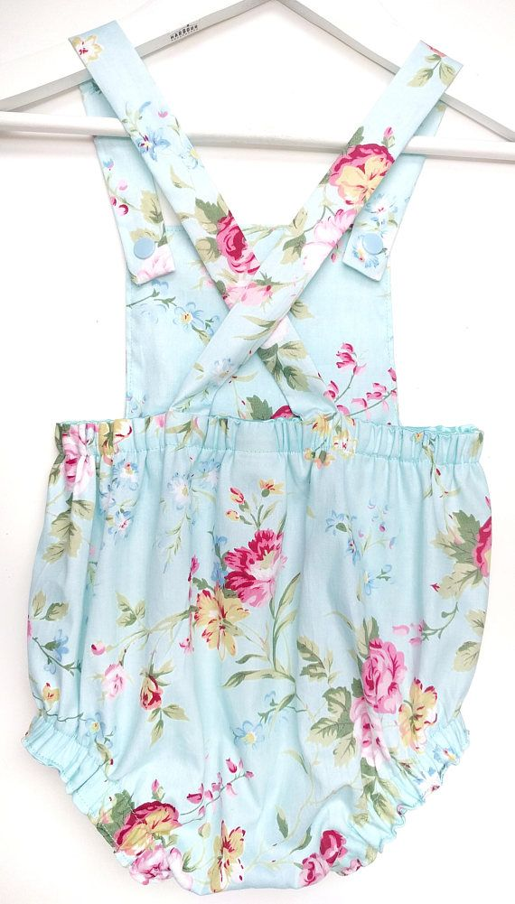 288a85f0b Cross back romper Bubble romper Floral romper Cake smash. Find this Pin and  more on Baby Girl ...