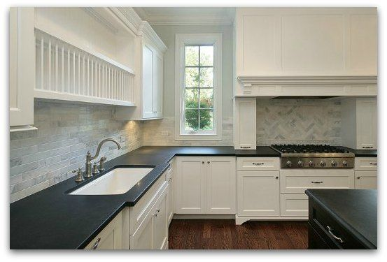 Problems With Soapstone Countertops : Black countertops with white cabinets absolute