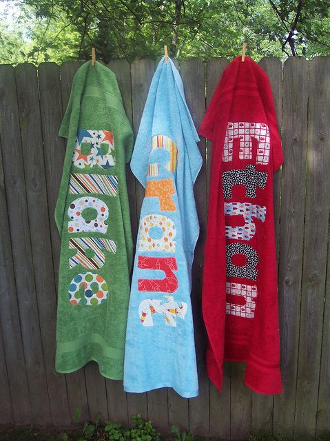Monogrammed Towels | Applique Personalized Beach Towels | Flickr - Photo Sharing!