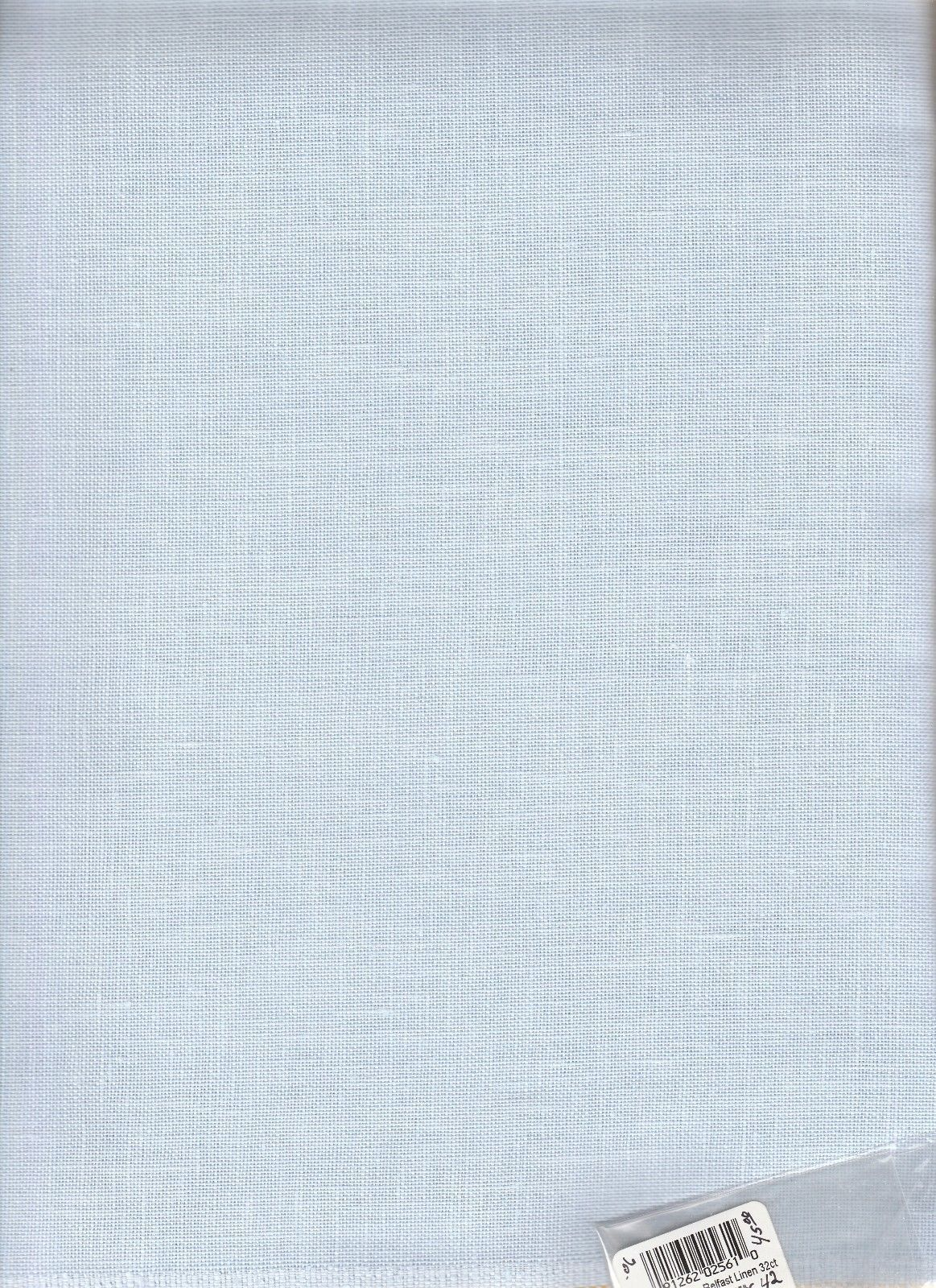 Embroidery Cloth Fabric 183196 Belfast Linen 32ct 36 X 42 Blue