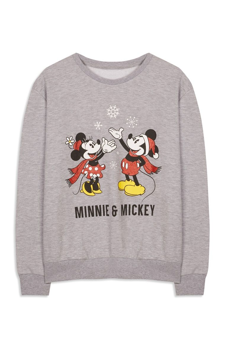 Primark Minnie And Mickey Christmas Jumper Cute Christmas Pajamas Christmas Jumpers Disney Sweatshirts