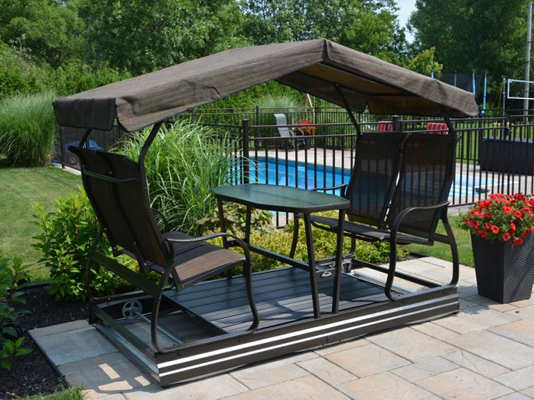 Raber Patio Enclosures Covered Glider | Gliders | Patio ...