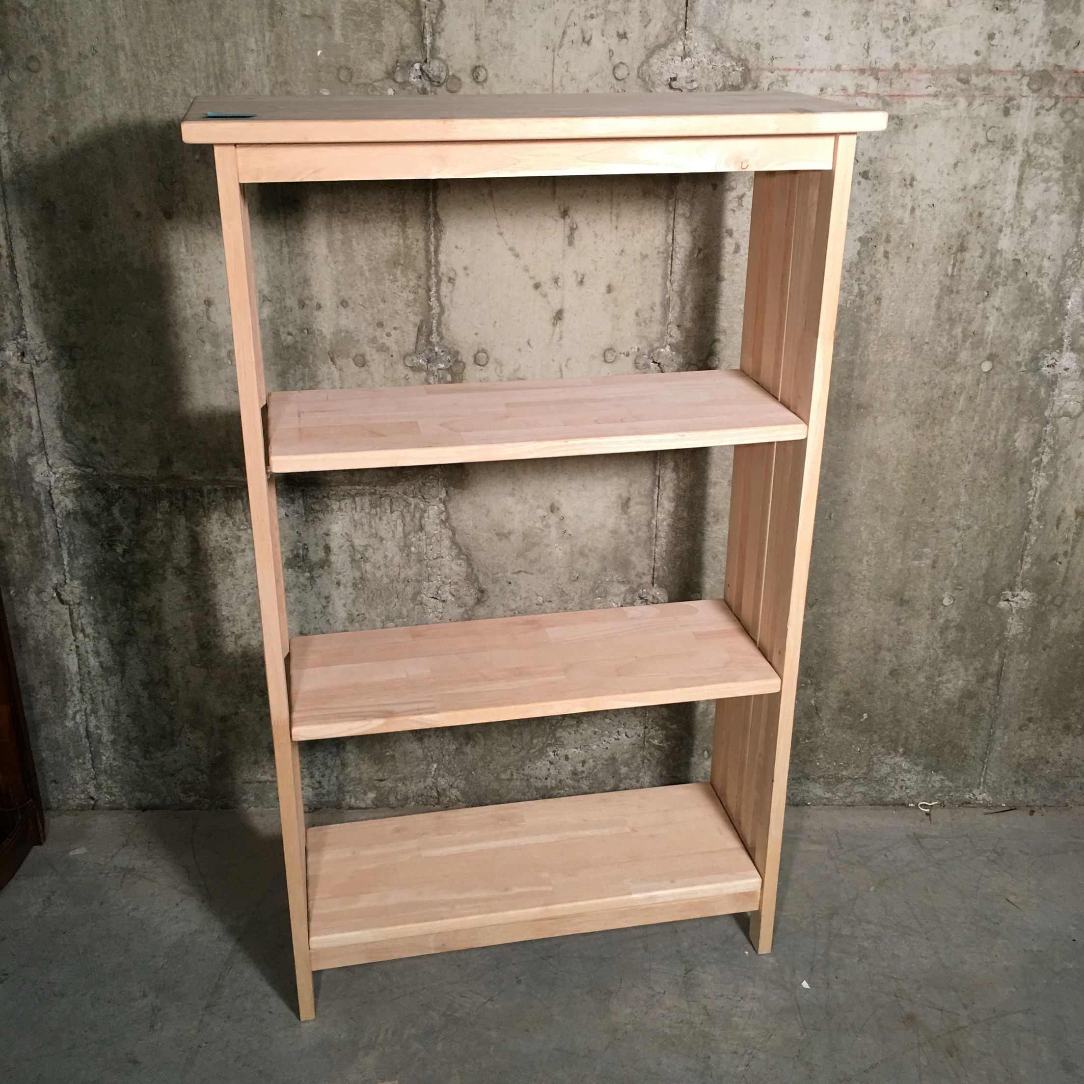 Natural Wood Bookshelf 55 2 Adjustable Shelves 30 Wide X 12 Deep X 48 Tall Item 439 Paypal Deposits Now A Wood Bookshelves Adjustable Shelving Shelves