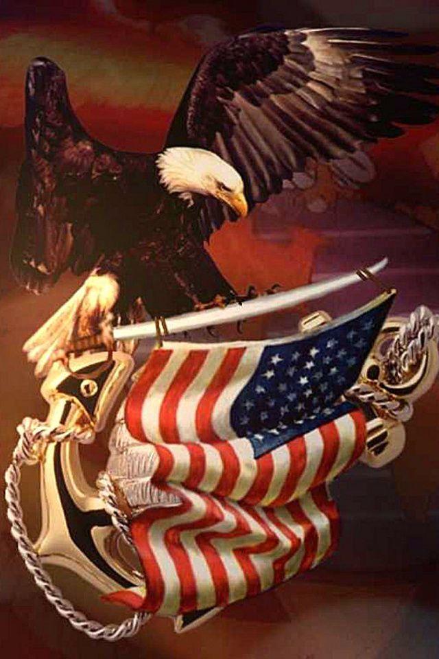 Wallpaper for iPhone Patriotic Patriotic wallpaper, Usmc