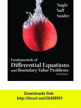 Fundamentals of differential equations and boundary value problems fundamentals of differential equations and boundary value problems 6th edition 9780321747747 r fandeluxe Images
