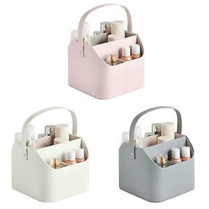 Beautify Cosmetic Caddy Carry Handle Faux Leather Tidy Makeup