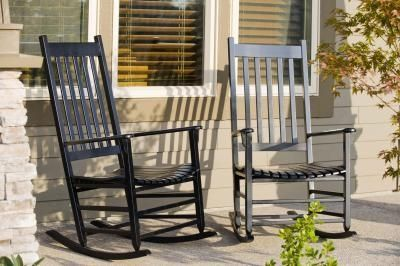 Can T Wait To Paint My Cb Rocking Chairs Black And Add A Bright Cushion Them So Excited