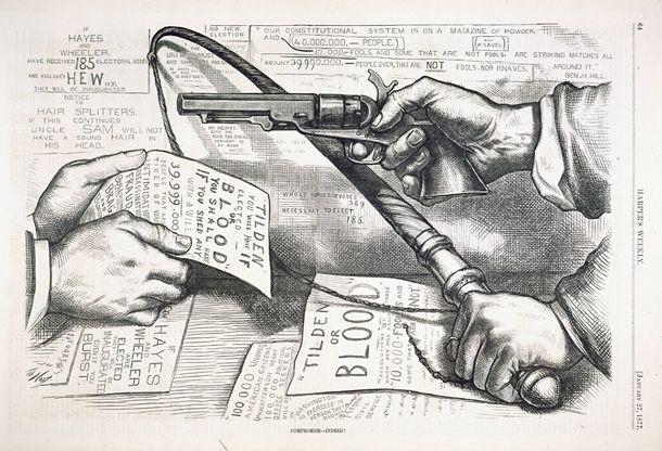 Thomas Nast Cartoon On The Compromise Of 1877 Cartoon