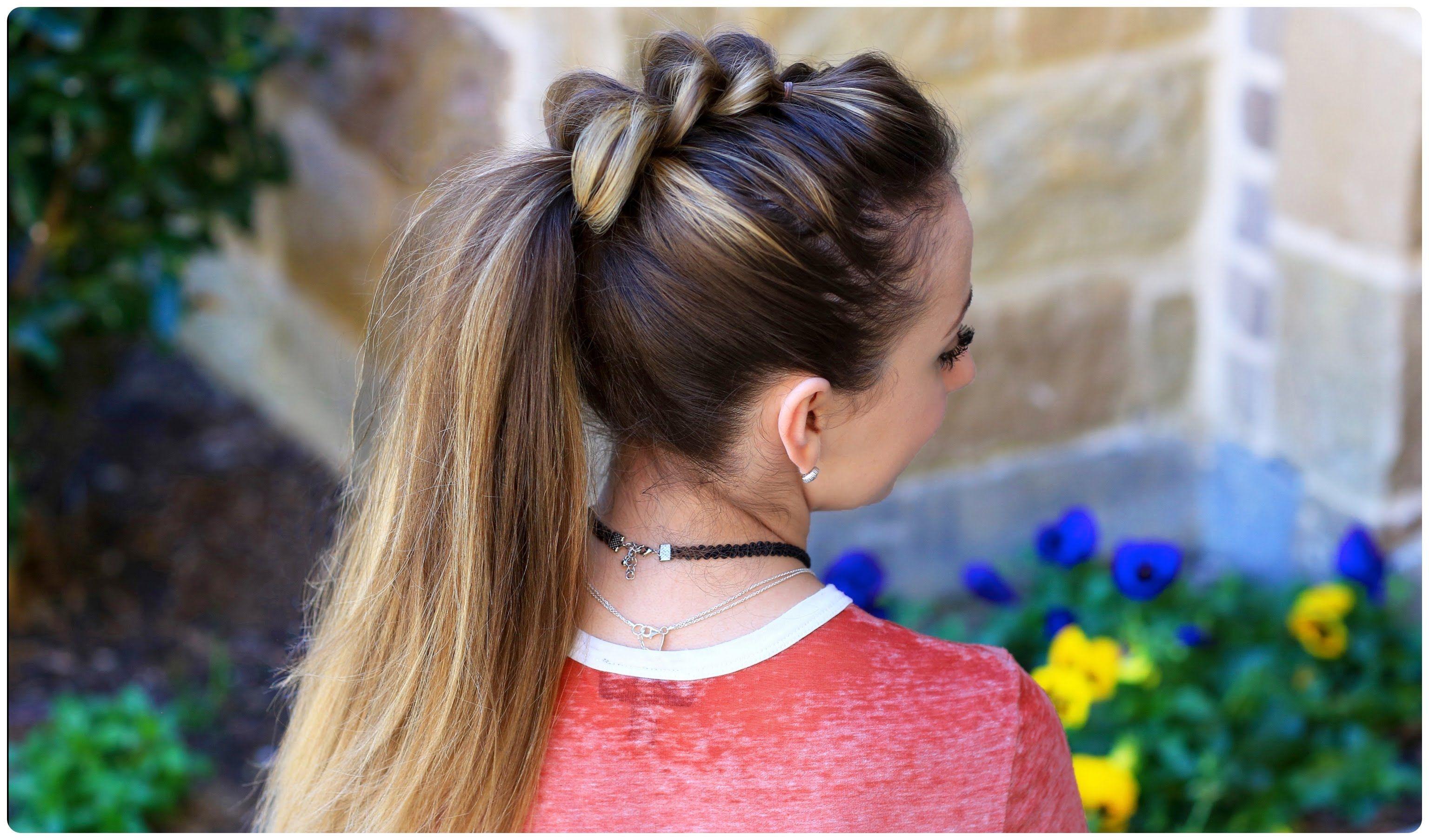 Pull-Thru Ponytail | Cute Girls Hairstyles | Cute Girls Hairstyles ...