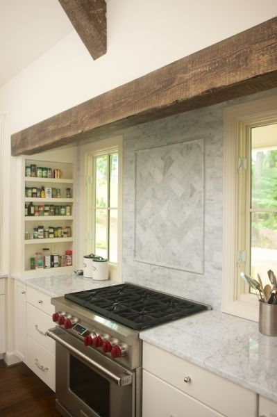 Farmhouse Kitchen Features Cooking Nook Accented With