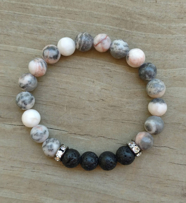 Lava Stone Diffuser Bracelet Essential Oils Bracelet Stackable