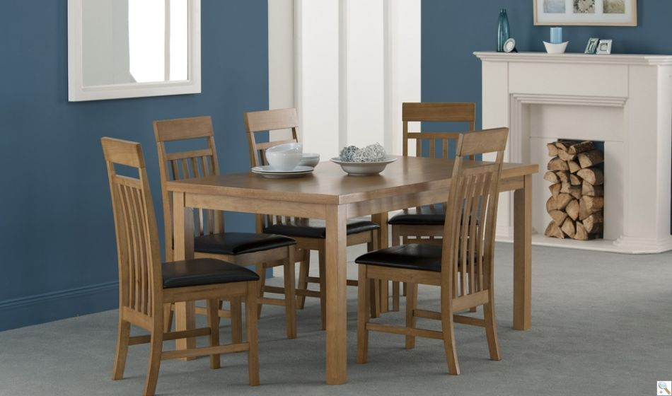 Montreal 150Cm Oak Dining Table With 6 Chairs  Great Value Dining Gorgeous Oak Dining Room Table And 6 Chairs Decorating Inspiration