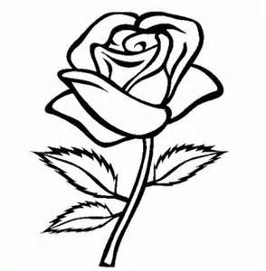 Rose With Thorns Coloring Page From Roses Category Select From