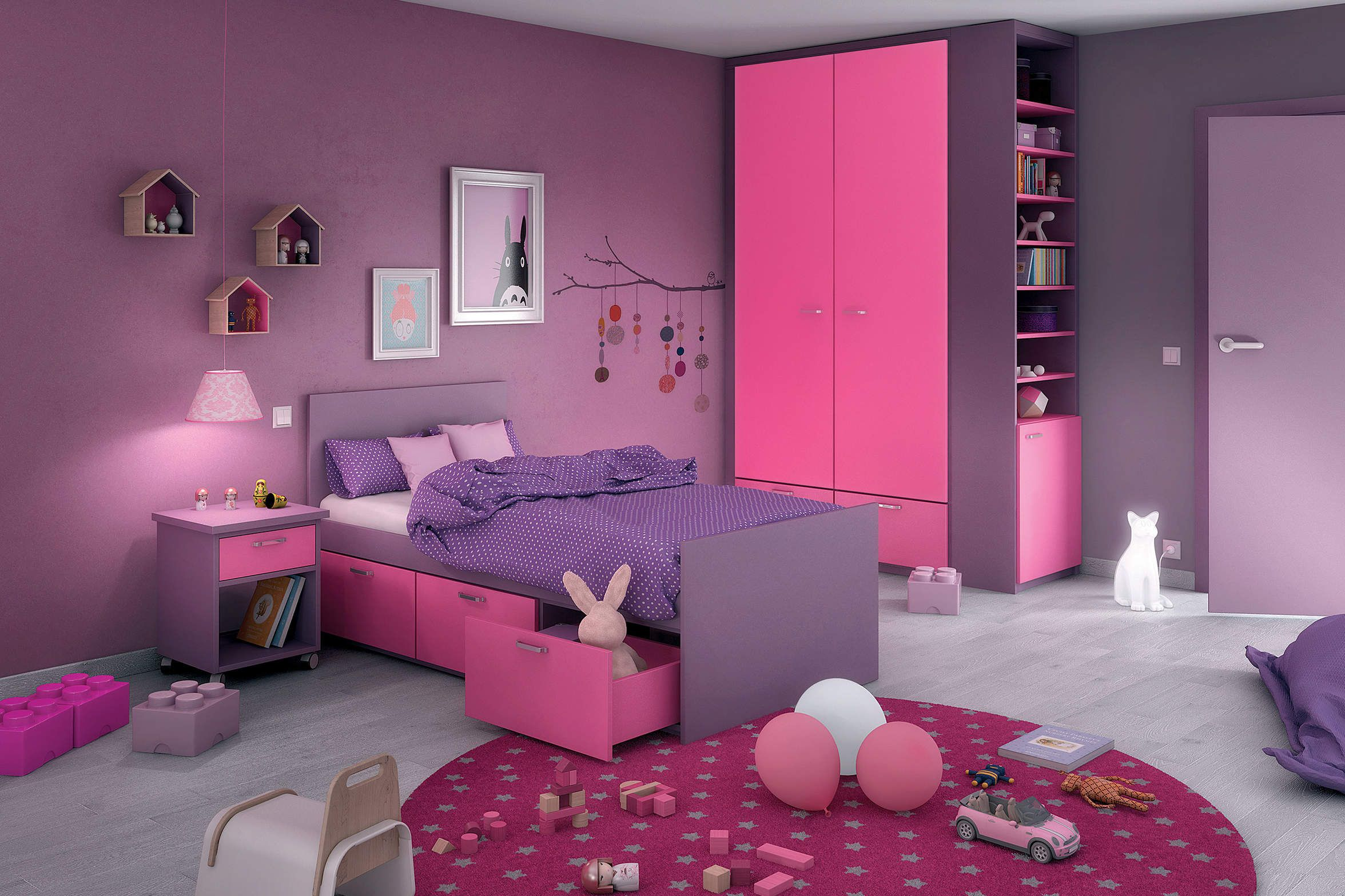 rangements chambre petite fille d co chambre pinterest. Black Bedroom Furniture Sets. Home Design Ideas