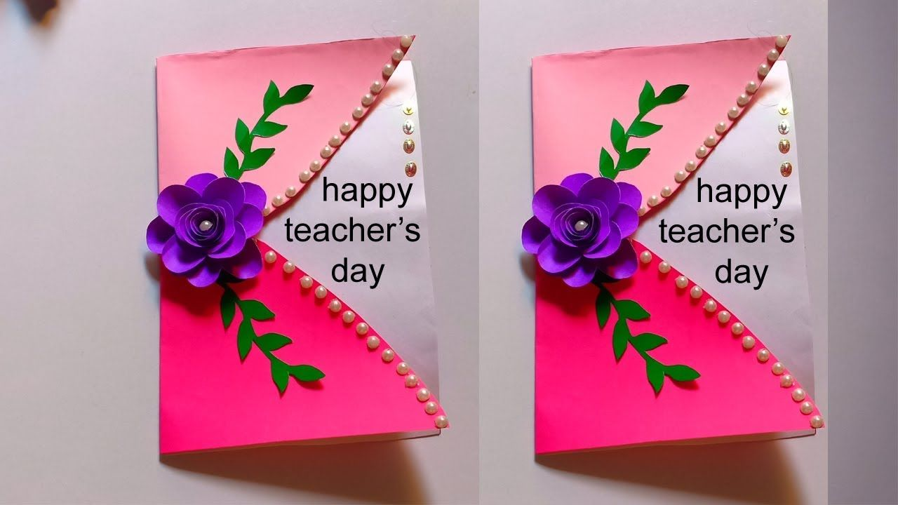 Diy teachers day cardhow to make greeting card for