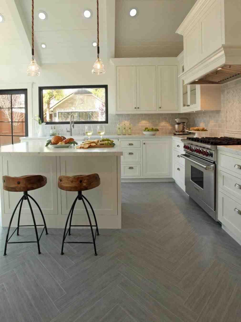 New post white cabinet kitchen tile floor decors ideas pinterest