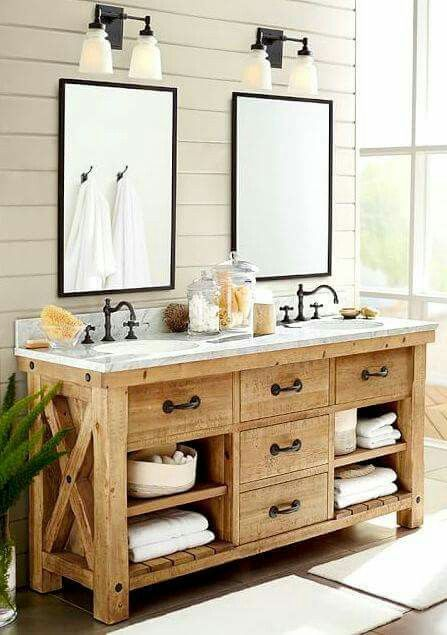Pin By Elisabeth Atlic On Banos Rustic Master Bathroom Bathroom Remodel Master Farmhouse Master Bathroom