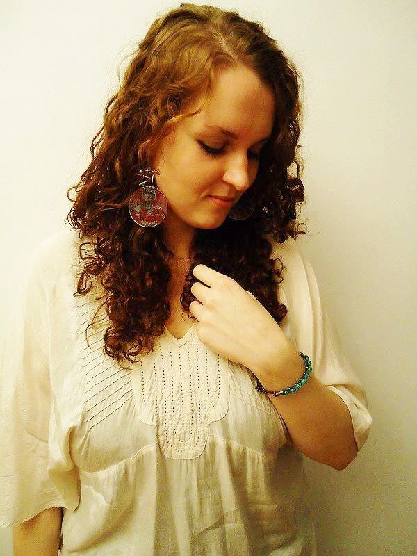 Qustomer photo! Rockin these dragon earrings and wrap bracelet!