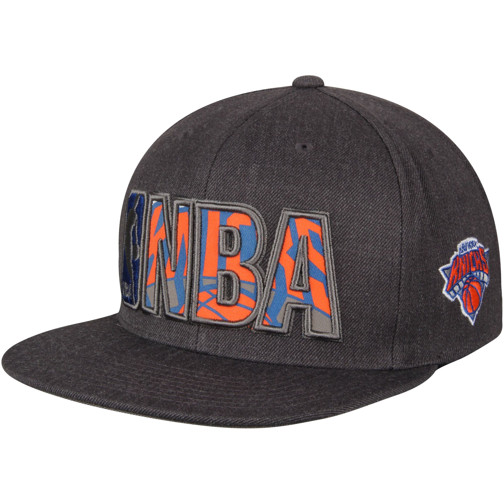 6956799eb77 Mitchell   Ness New York Knicks Gray Insider Reflective Snapback Adjustable  Hat