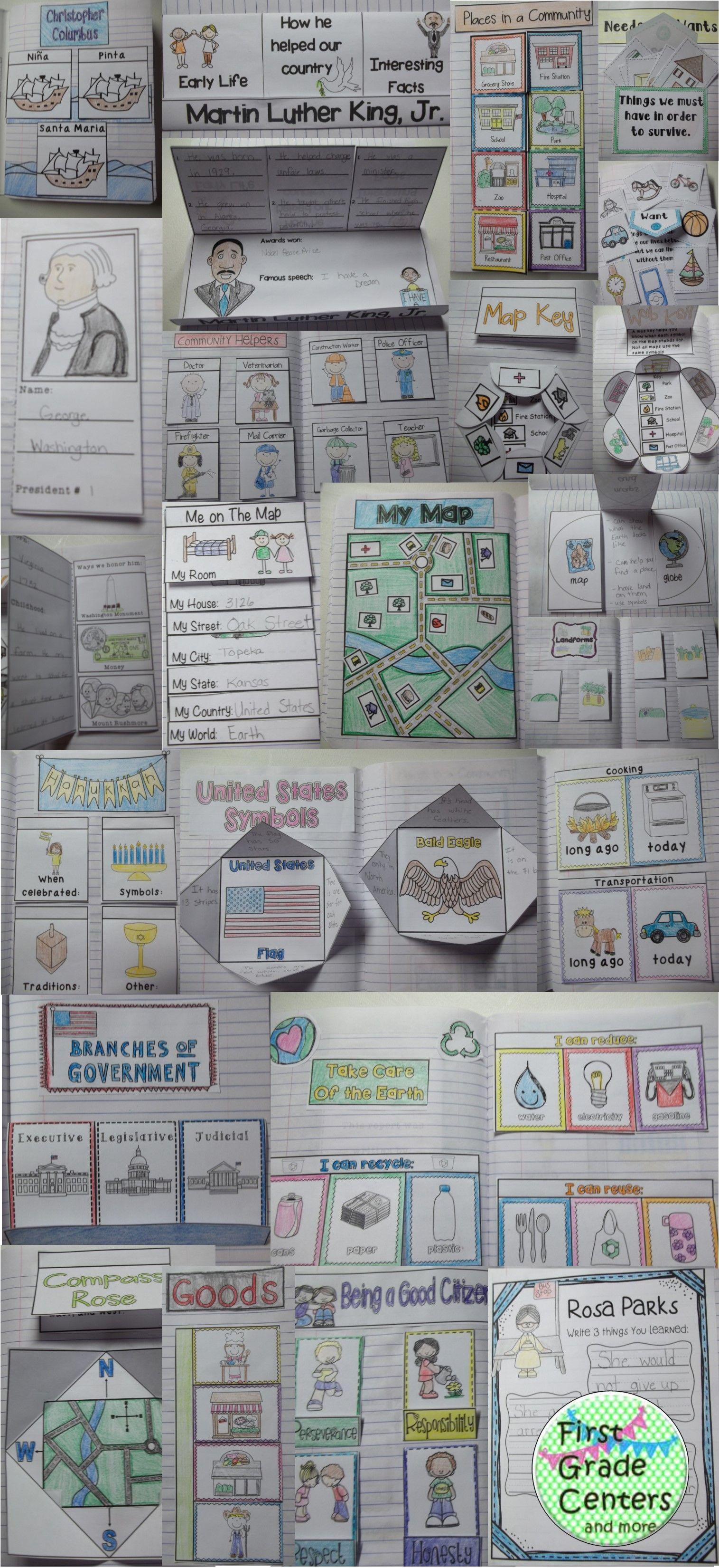 Social Studies Interactive Notebook K-2 | New SS Class | Pinterest ...
