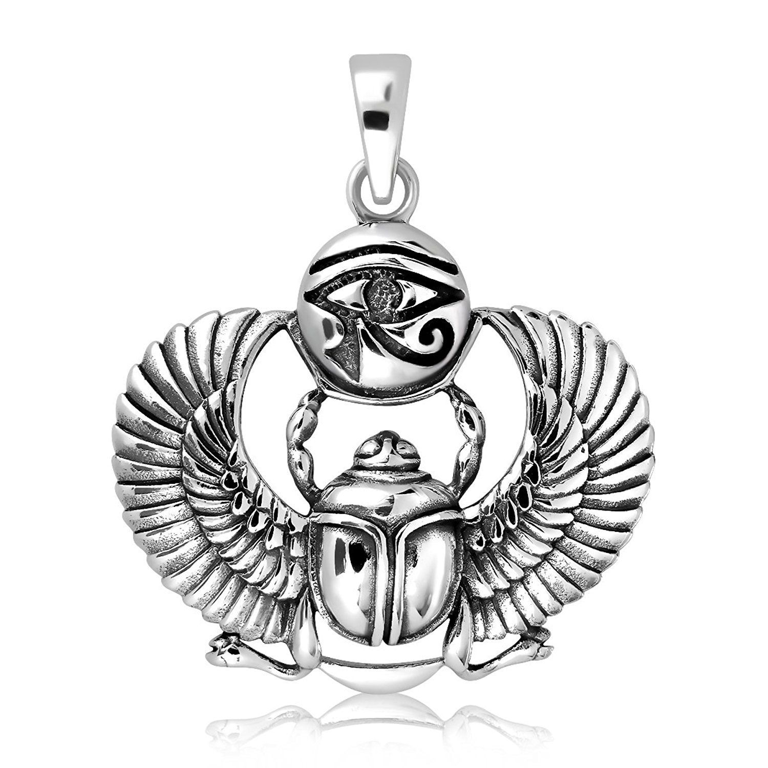 925 sterling silver egyptian eye of horus udjat ancient scarab Wearing Your Confidence On Your Sleeve 925 sterling silver egyptian eye of horus udjat ancient scarab beetle pendant