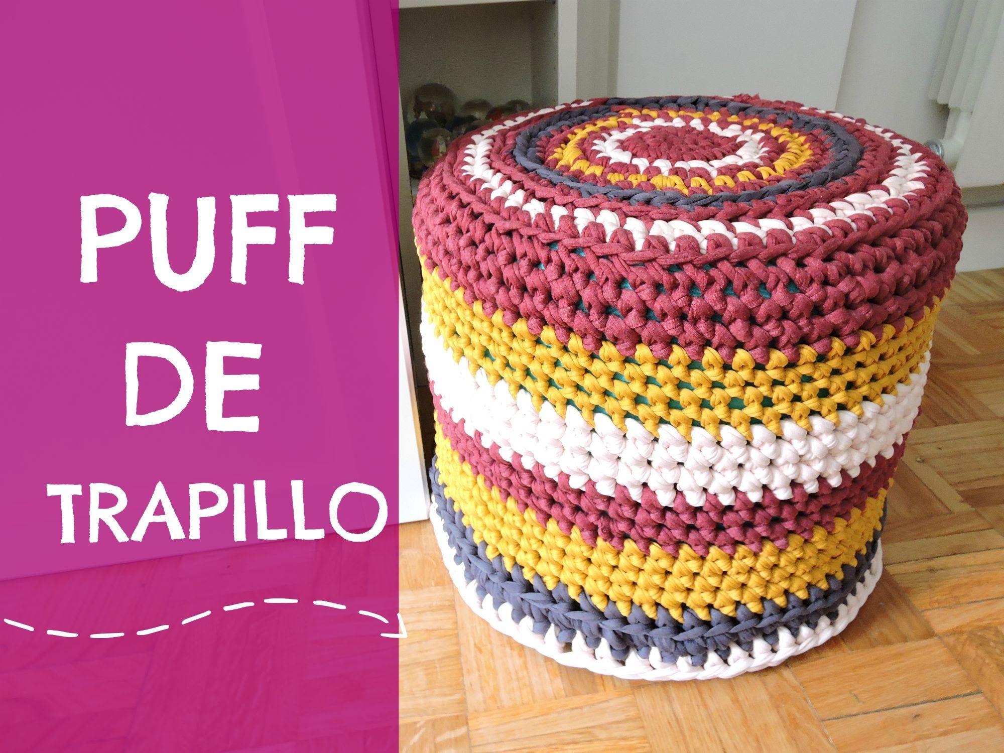 Puff de trapillo tutorial paso a paso | Denenecek Projeler | Pinterest