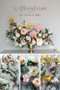 How to make a faux flower arrangement faux flowers flower diy faux flower arrangement create a dramatic floral arrangement with this step by mightylinksfo
