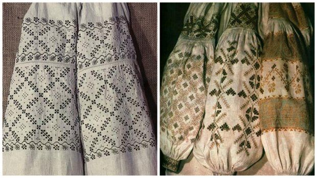 Полтавська область Традиційна вишита сорочка на Полтавщині зазвичай була  вишита білими нитками у техніці гладі. 4a4a67dc4b34c