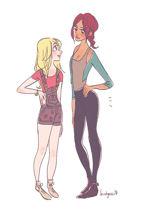 Dawn And Farrah But Is Only 5 Feet Tall Just Roll With It Desenho Pinterest