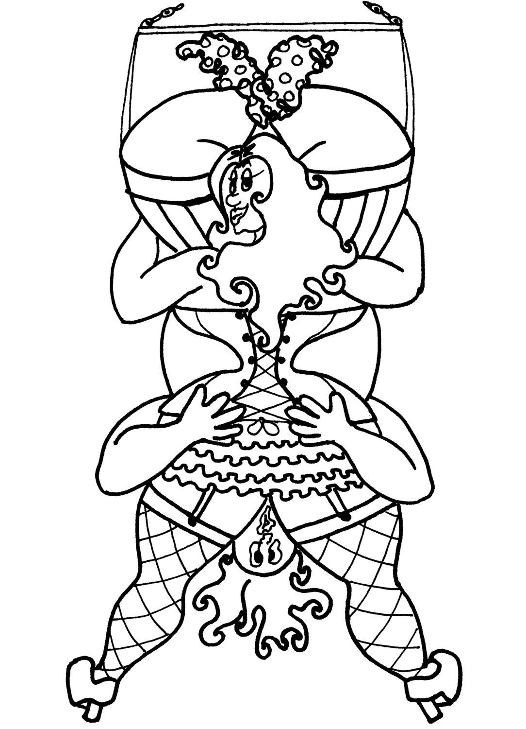 Swinging 69 Sexy Coloring Pages for Adults from the Chubby Art