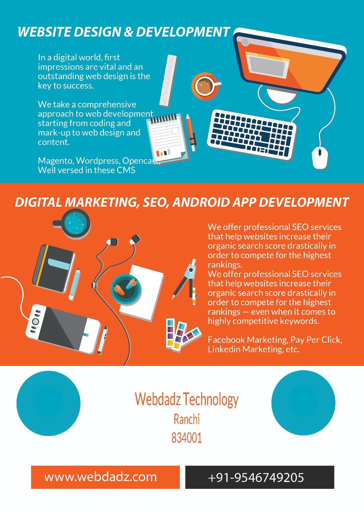 Best Website Design In Ranchi Seo In Ranchi Digital Marketing In Ranchi Android Fun Website Design Website Design Android Application Development