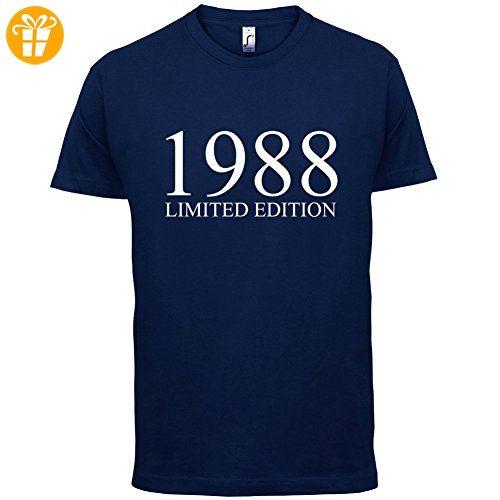 1988 Limierte Auflage / Limited Edition - 29. Geburtstag - Herren T-Shirt - Navy - XS (*Partner-Link)