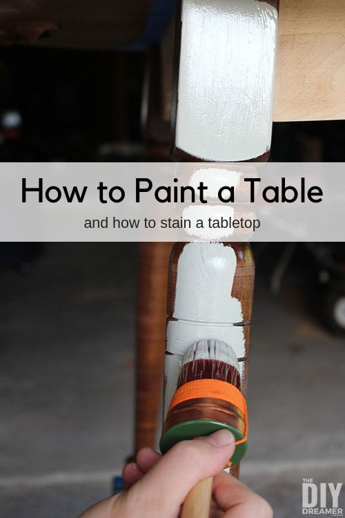 Photo of How to Paint a Table and Stain a Tabletop