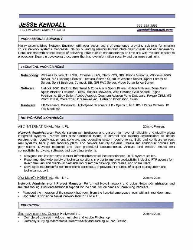 Entry Level System Administrator Resume Inspirational