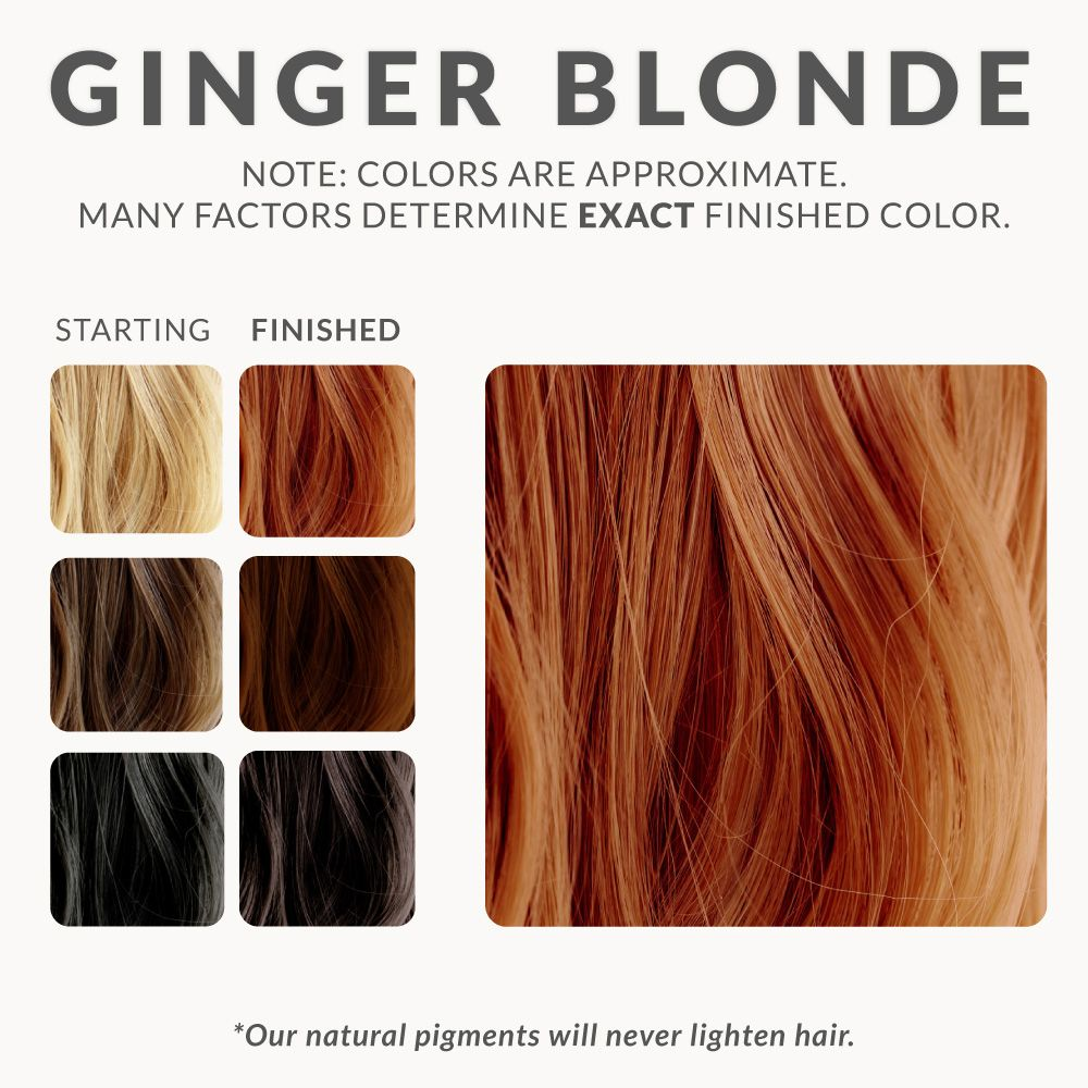 Ginger Blonde Henna Hair Dye Red Henna Hair Blonde Henna Henna