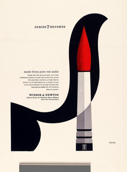 Tom Eckersley, Series 7 brushes | Eckersley Archive: University of the Arts London
