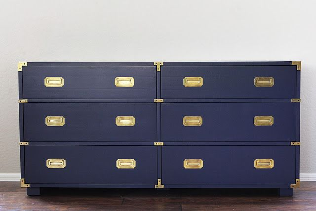 Before And After Campaign Dresser Natty By Design Navy With