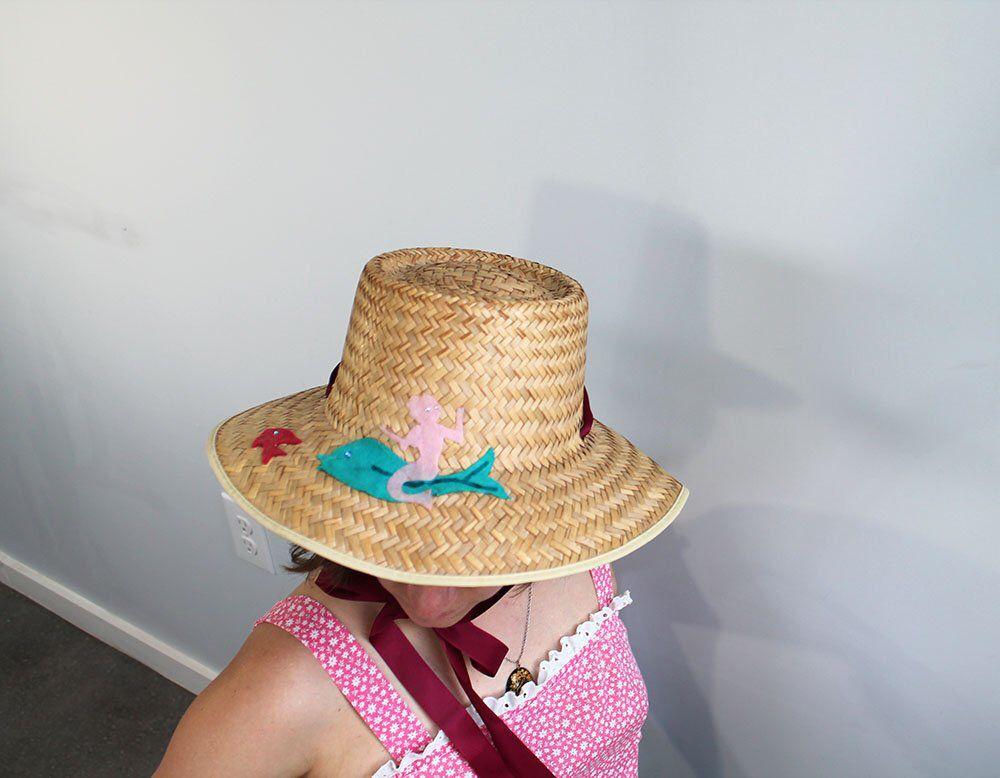 47045e7c1f6 1960s Mermaid Straw Beach Hat    Medium by TheTurtleAndTheRay on Etsy  https