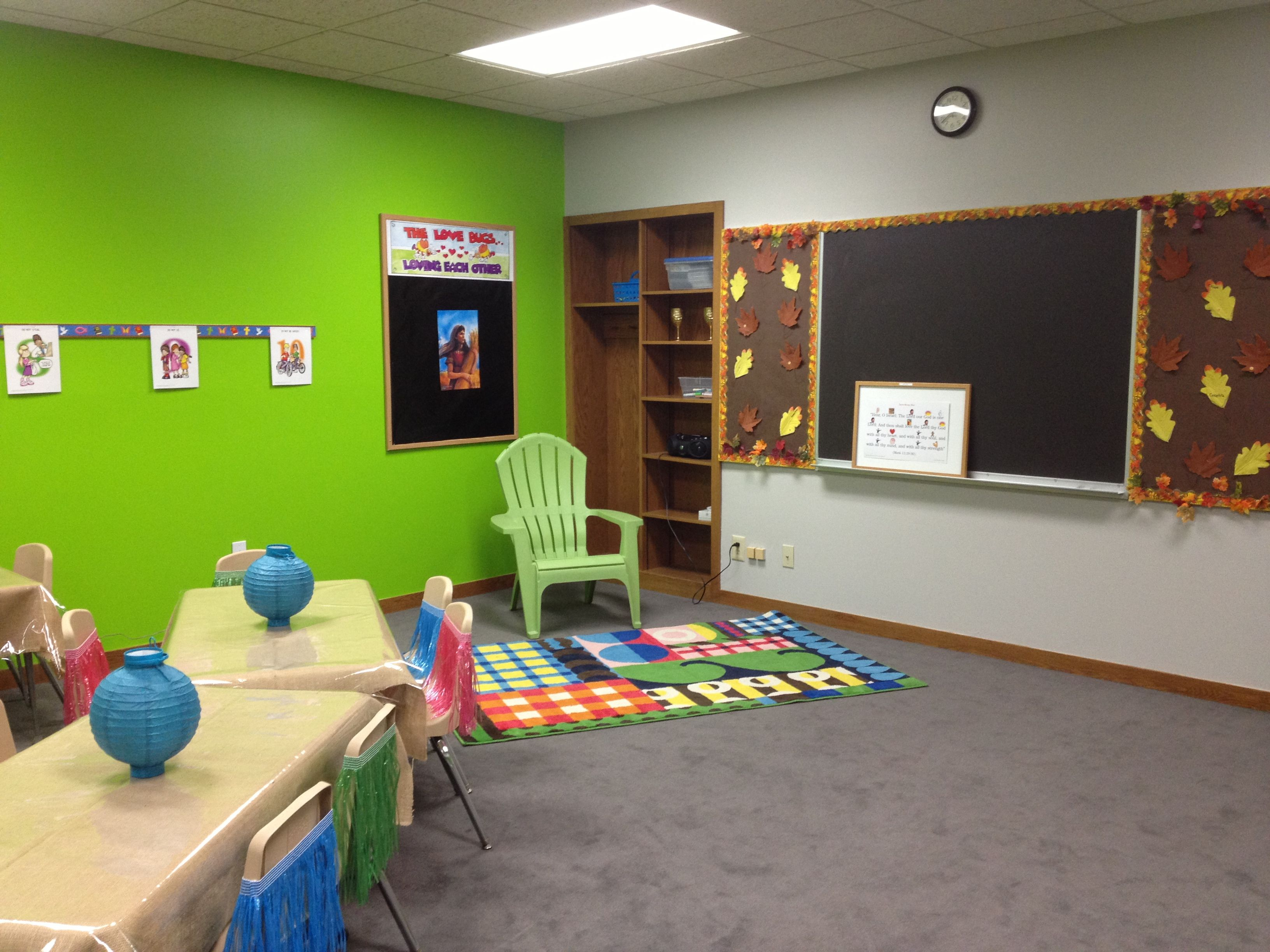 New K4 & K5 Sunday School Classroom #day3 #creation #luau ...