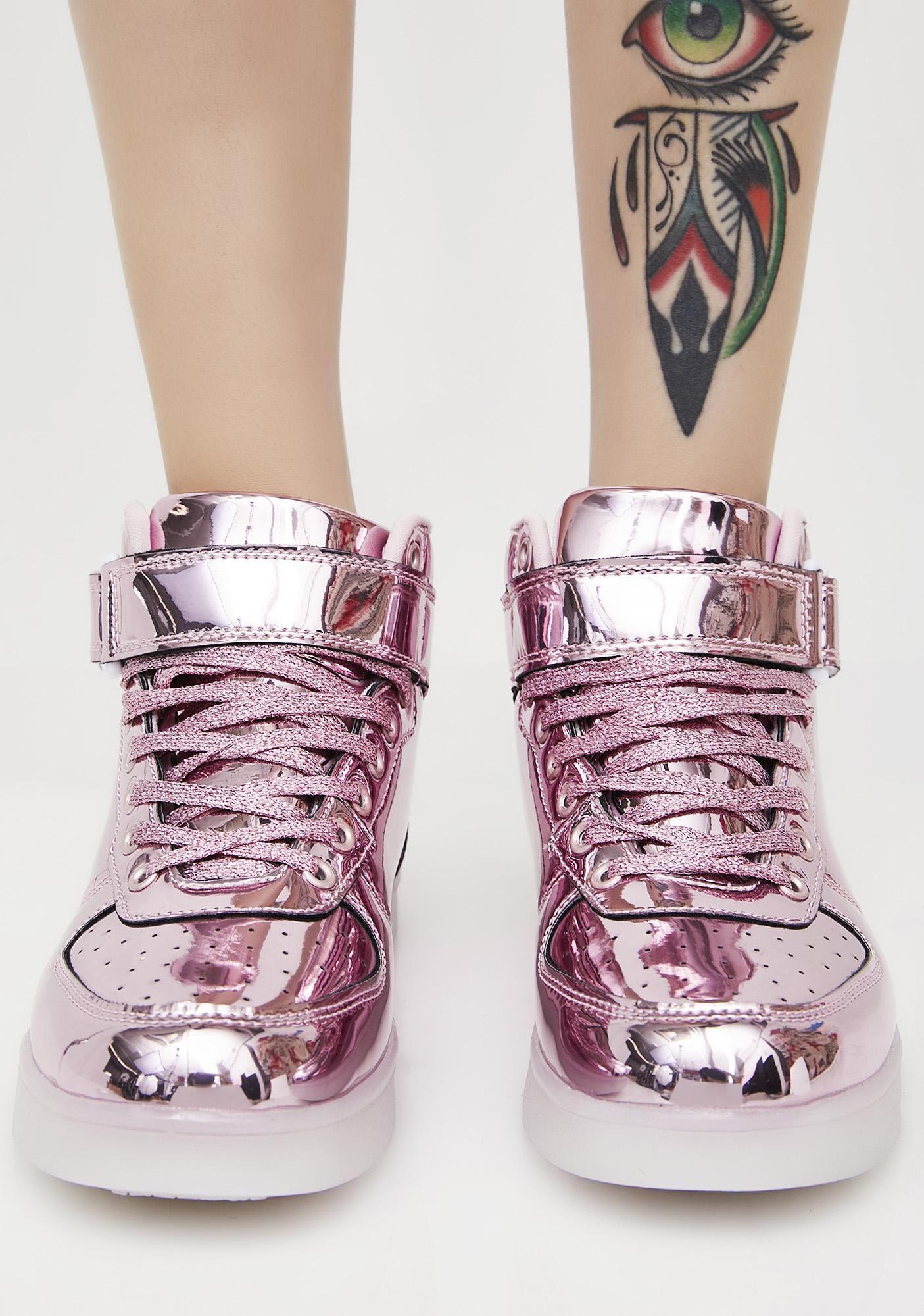 chrome light up shoes