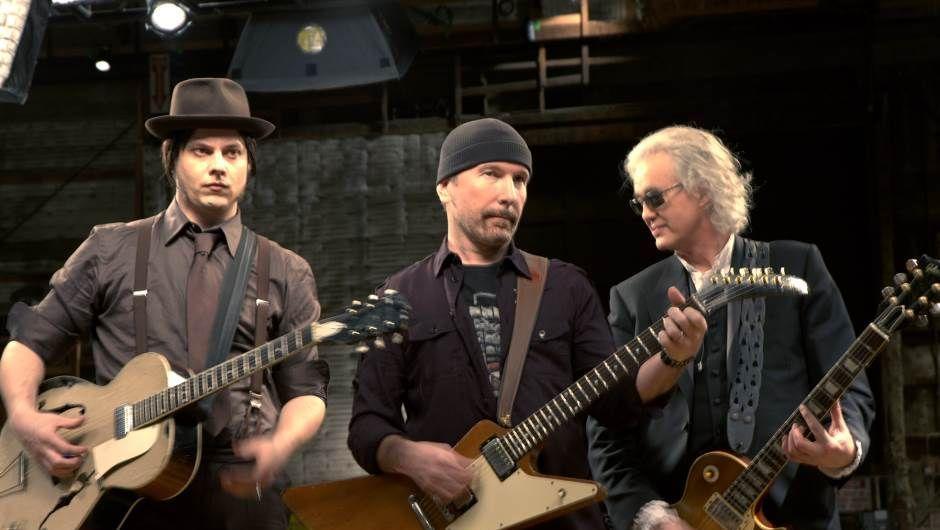 <p>Rencontre au sommet entre trois virtuoses de la guitare électrique : Jimmy Page de Led Zeppelin, The Edge de U2 et Jack White des White Stripes. Une plongée au coeur de l'instrument, riche en riffs saturés.</p>