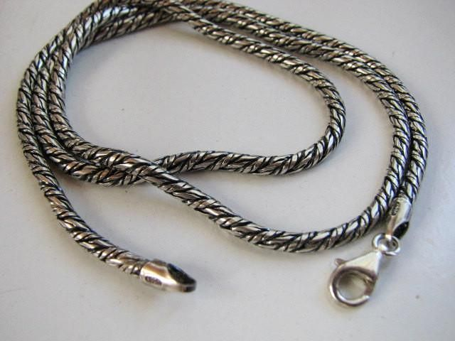 Sterling Silver 3mm Oxidized Ball Chain 16 inch Necklace Vintage Look Oxide Ball Necklace